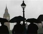 Big Ben in a rainy London